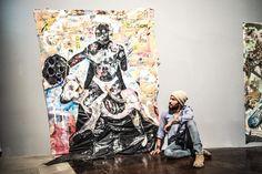 At Venice Biennale vibing on fellow Bahamian artist Lavar Munroe. Photo credit: Mathieu Bitton 7/29/15