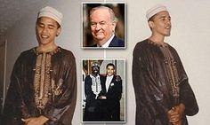 The Fox News host claimed the images were taken at the wedding of Obama's half-brother in Maryland in the early 90s, and said they prove that the President has 'deep emotional ties to Islam'.