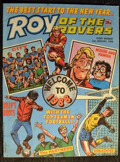 Roy of the Rovers comic January 1988 of the Rovers comic in good used condition. Please see full description and photo for more details. Kempton Park, Comic Art, Comic Books, Football Stickers, Read Comics, Antique Market, Kids Tv, Better Day, Kids Reading