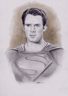 Man of Steel, Pencil on pear, inches Man Of Steel, Henry Cavill, Superman, Pear, How To Draw Hands, Geek Stuff, Pencil, Sketch, Artist