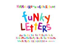 ABC alphabet funky letters children by Rommeo79 on Creative Market