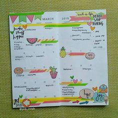 040216   Monthly spread for March  Thank you for these cutie patootie sticker flakes  @makeandtellblog   #monthlychallengetracker #marchchallenge #giveawaytracker  #monthly #random #plannerlove #fauxdori #planneraccesories #heidiswappstamp #washitape #lovemonth #metime #planner #plannerrelated #floraldori #plannernerd #creativeplanning #plannercommunityph #plannerspread #planninggalore #stickers #pageflags #yellow #green #pink #orange