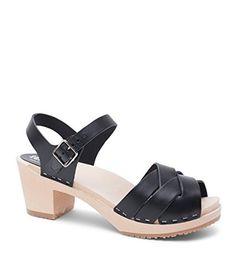 a10846f94de137  94.5 - Sandgrens Swedish High Heel Wood Clog Sandals Women