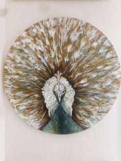 Oil on canvas. 60x60 cm  #oilpaint #art #artist #canvas #painting #peacock #chatbirdy