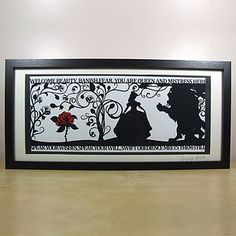 The Beauty Of A Beast Signed Papercut Print - mixed media pictures £45