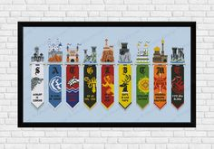 Crazy for Game of Thrones? Are you a Stark, a Targaryen or maybe a Lannister? This cross stitch pattern features all the Houses banners and their respective castles and motto. An absolute must have! rnrn This listings is for a virtual pattern that y