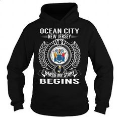 Ocean City, New Jersey Its Where My Story Begins - #polo shirt #black hoodie…