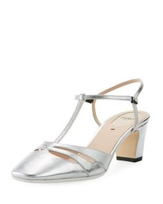 Get free shipping on Fendi Metallic Leather 55mm Slingback Pump at Neiman Marcus. Shop the latest luxury fashions from top designers.