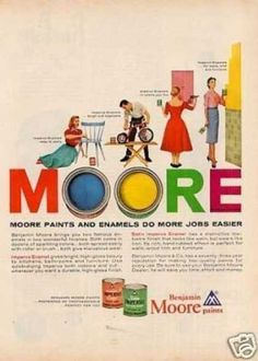 Moore paint ad