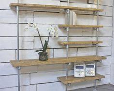 Sebastian Reclaimed Scaffolding Boards and Steel by inspiritdeco