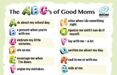 The ABC of being a good mom x