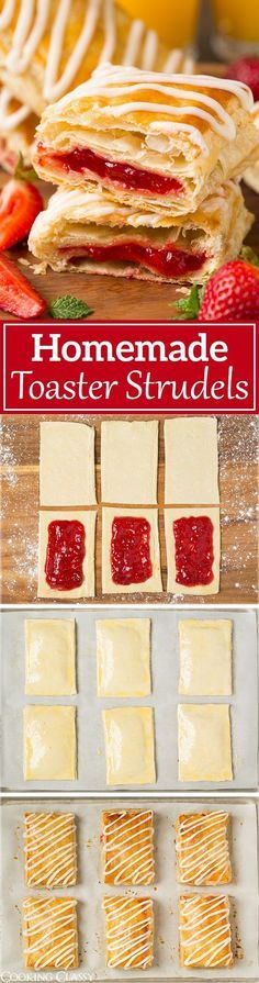 Homemade Toaster Strudels - These are SO much better than the store bought kind! Love all those flaky layers and the icing is amazing!