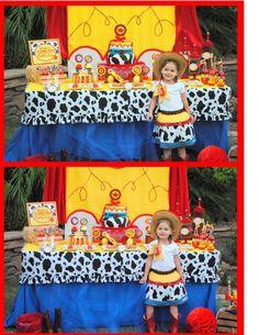 JESSIE - Girls Jessie Skirt - Cowgirl Skirt - Peasant Dress - Little Girl Toy Story Dress - Toddler - Children Clothing
