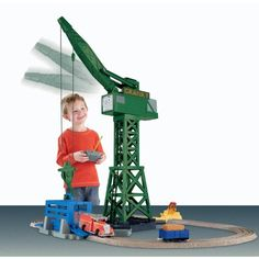 Thomas the Train: TrackMaster Cranky and Flynn Save the Day Playset $39.98