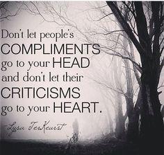 Compliments & Criticisms