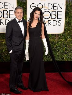 The newlyweds: George and Amal Clooney made their debut Golden Globes appearance as a couple on Sunday