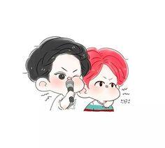 """#fanart #chanbaek #chanbaekfanart #baekyeolfanart #baekyeol #chanyeol #baekhyun #EXO [Cre: springonionss]"""