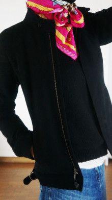http://ameblo.jp/komatsu1108/entry-12136664228.html スカーフ巻き方  スカーフコーデ scarf arrangement エルメス カレ HERMES carres アラフォーファッション プリーツ