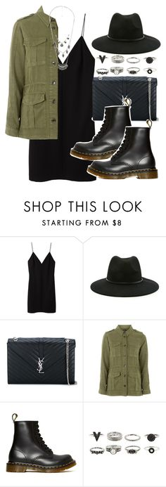 """Sin título #3651"" by hellomissapple on Polyvore featuring moda, T By Alexander Wang, Forever 21, Yves Saint Laurent, Topshop, Dr. Martens y MANGO"
