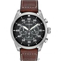 Mens Citizen Avion Chronograph Eco-Drive Watch CA4210-24E