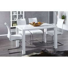 lima design dining table 120cm white high gloss kitchen table neofurn. beautiful ideas. Home Design Ideas