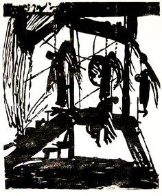 Asaph Ben-Menahem, woodcut, 102x85 cm