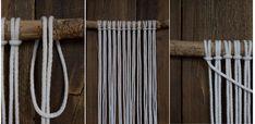 Kaarnan katveessa: Kuvalliset ohjeet: makramee seinävaate Yarn Braids, Clothes Hanger, Diy And Crafts, Weaving, Creative, Challenges, Home Decor, Macrame Patterns, Coat Hanger