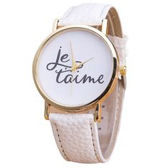 """Watch: Je t'aime (White) ---- """"Paris, je t'aime"""", sounds familiar?Get yourself a Parisianlook with ourwatch""""Je t'aime"""" and feel like being on top of the Eiffel Tower! - Choose out of 8 different styles!Be unique and bring thisfresh style to your surroundings! - Free delivery - Delivery time: 2 to 3 weeks"""