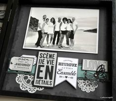 Préparons Noël J3 : Home déco par Cathyscrap85 - Florilèges Design Home And Deco, Album, Black And White, Frame, Blog, Scrapbooking Ideas, Home Decor, Frames, Noel