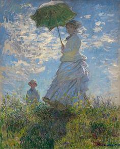 La femme au parasol, par Claude Monet