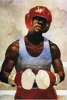 """""""Fighter."""" Oil on canvas by Bart Forbes 1988."""