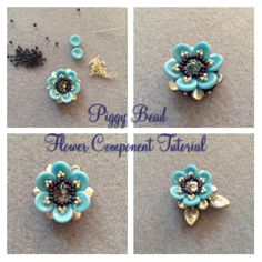 Piggy Bead Flower Bead Tutorial