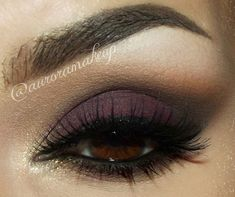 Plum smokey eye for brown eyes.  This color looks good on my green eyes.