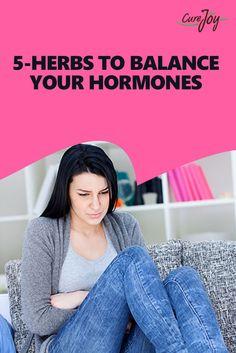5 Herbs To Balance Your Hormones ==>