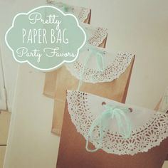 Paper Bag Party Favors, Paris Tulle Wreath and Pink Poodle Cookies!