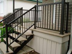 Balcon-marches-fibre de verre-rampe extérieur gatineau
