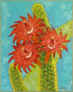 Cactus original oil painting on canvas, Cactus art, blooming cactus oil painting, handmade artwork flowers, original oil on canvas gift art Bird Paintings On Canvas, Christmas Paintings On Canvas, Paintings For Sale, Oil Painting On Canvas, Original Paintings, Oil Paintings, Original Art, Cactus Art, Buy Cactus