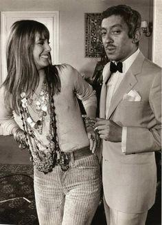 Serge Gainsbourg and Jane Birkin, 1970's