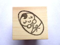 Baby shower stamp Rubber stamp Baby by JapaneseRubberStamps