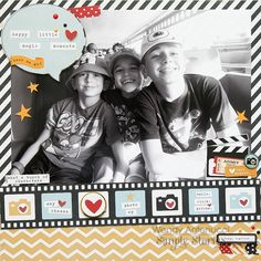 Happy Little Moments **Simple Stories DT** - Scrapbook.com - Made with the Soon to Be Available Simple Stories Say Cheese 2 collection