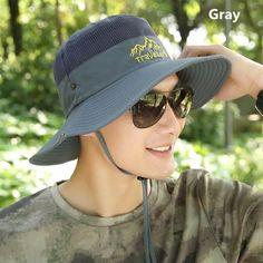 Breathable veil sun bucket hat UV package fishing hats for men
