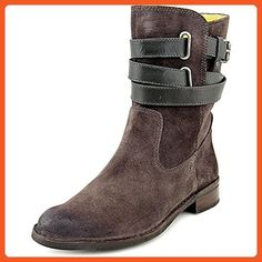 Bussola Style Sevilla Short Suede Women US 7.5 Gray Mid Calf Boot - Boots for women (*Amazon Partner-Link)