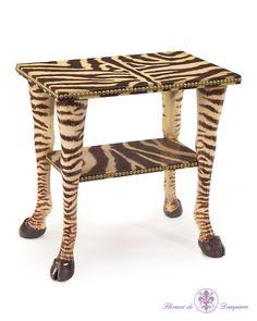 Eugene Zebra Table by John Richard at Gilt