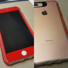 Rose Gold Iphone 7 plus GSM unlocked 128GB w case and red tempered glass for sale. Contact us! #iphone7plus #iphoneforsale #repairsharks