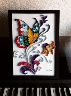 Best 12 Best 12 Quilling, the paper takes shape on - Quilled Paper Art Quilling Butterfly, Arte Quilling, Paper Quilling Cards, Paper Quilling Flowers, Paper Quilling Patterns, Origami And Quilling, Quilling Craft, Paper Flowers Diy, Diy Quilling Projects
