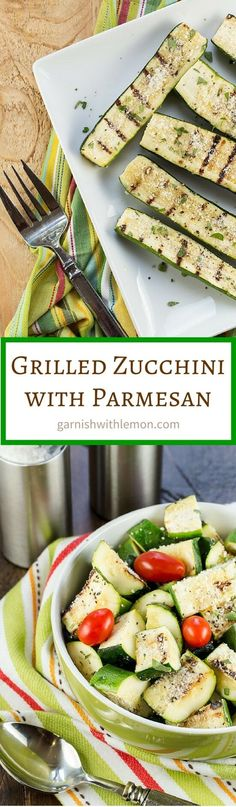 Grilled Zucchini with Parmesan:
