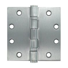 4-1/2' Dull Chrome Ball Bearing Butt Hinges - Sold By The Box 1-1/2 Pairs (3 Pieces)