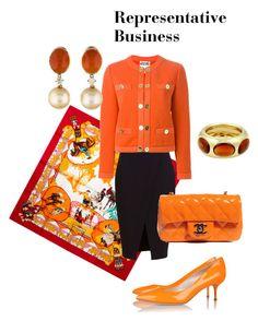 Representative Business by natalia-minnigalimova on Polyvore featuring мода, Moschino, Nicholas, Casadei, Chanel, Pomellato and Hermès