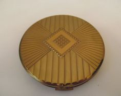 1950s deco style Max Factor powder compact