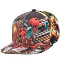 DEADPOOL SUBLIMATED ALL OVER PRINT SNAPBACK HAT CAP #Marvel #BaseballCap